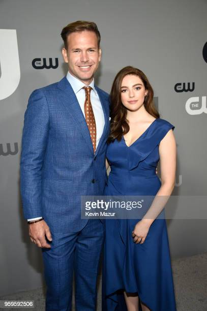 Matthew Davis and Danielle Rose Russell attend The CW Network's 2018 upfront at The London Hotel on May 17 2018 in New York City