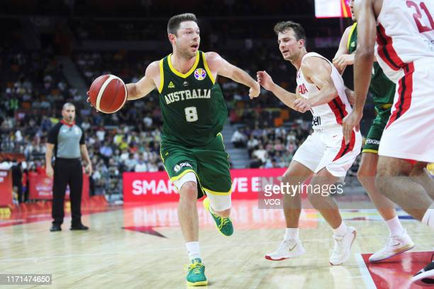Matthew Dellavedova of Australia in action during FIBA World Cup 2019 group match between Canada and Australia at Dongfeng Nissan Cultural and Sports...
