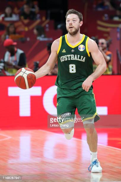 Matthew Dellavedova of Australia in action during the 3rd place game of 2019 FIBA World Cup match between France and Australia at Beijing Wukesong...