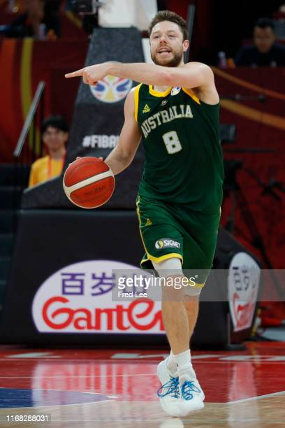 Matthew Dellavedova of Australia National Team in action against the France National Team during the 3rd place game of 2019 FIBA World Cup at Beijing...