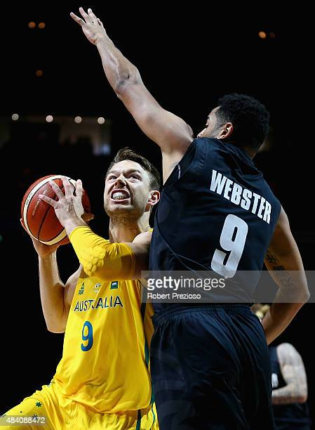 Matthew Dellavedova of the Boomers drives to the basket during the game one match between the Australian Boomers and New Zealand Tall Blacks at Rod...