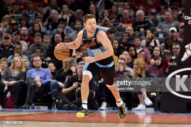 Matthew Dellavedova of the Cleveland Cavaliers drives down court during the second half against the Indiana Pacers at Rocket Mortgage Fieldhouse on...