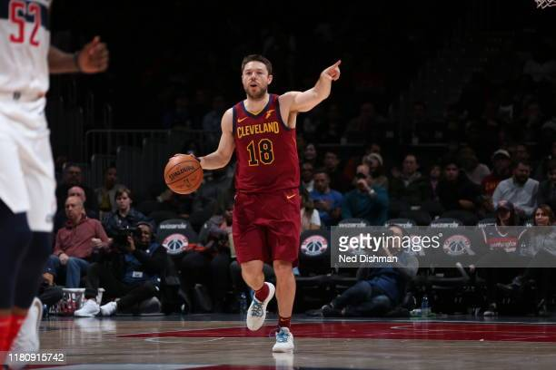 Matthew Dellavedova of the Cleveland Cavaliers handles the ball against the Washington Wizards on November 8, 2019 at Capital One Arena in...