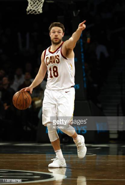 Matthew Dellavedova of the Cleveland Cavaliers in action against the Brooklyn Nets during their game at Barclays Center on March 06, 2019 in New York...