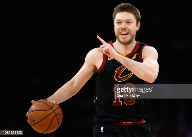 Matthew Dellavedova of the Cleveland Cavaliers looks on during the second half of a game against the Los Angeles Lakers at Staples Center on January...
