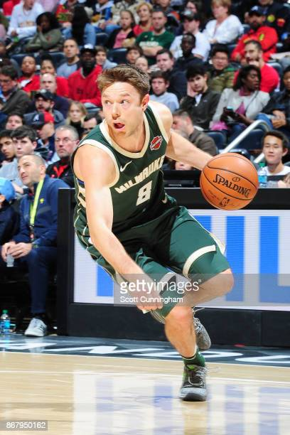 Matthew Dellavedova of the Milwaukee Bucks handles the ball against the Atlanta Hawks on October 29 2017 at Philips Arena in Atlanta Georgia NOTE TO...