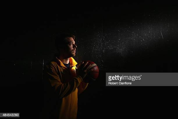 Matthew Dellavedova poses during an Australian Boomers Basketball team portrait session at The Blackman Hotel on August 20 2015 in Melbourne Australia