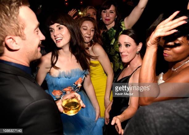 Matthew Dennis Lewis, Michelle Dockery, Kayli Carter, Audrey Moore , Samantha Soule and Elisa Perry attend the 2018 Netflix Primetime Emmys After...