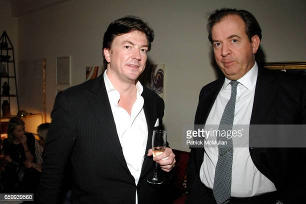 Matthew Doull and Mark Cornell attend LUCY SYKES RELLIE Birthday Party at Home of Milly de Cabrol and Jeffrey Podolsky on December 10 2009 in New...
