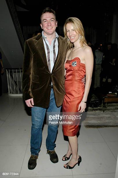 Matthew Doull and Vicky Ward attend Julie Luke Janklow VALENTINE'S DAY Party at Janklow Residence NYC on February 14 2007