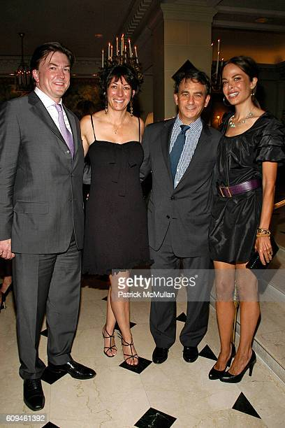 Matthew Doull Ghislaine Maxwell Jeffry Leeds and Allison Sarofim attend PEGGY SIEGAL'S Birthday Celebration at Hotel Plaza Athenee on June 26 2007 in...