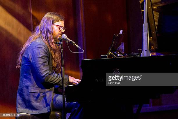Matthew E White performs on stage at LSO St Lukes on March 10 2015 in London United Kingdom