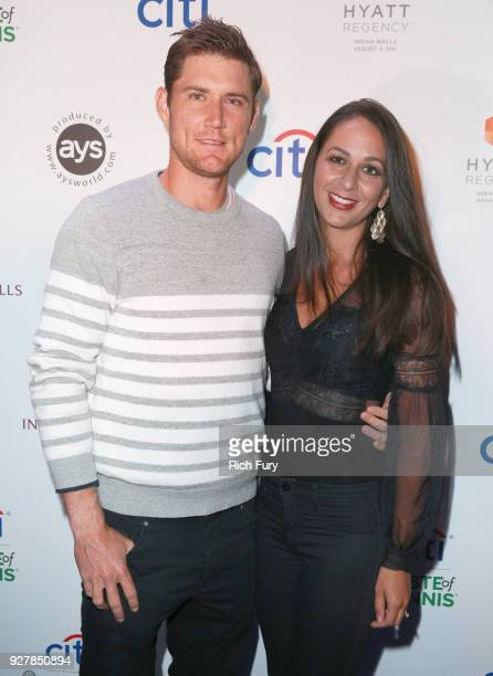 Matthew Ebden and Kim Doig attend the Citi Taste of Tennis at Hyatt Regency Indian Wells Resort Spa on March 5 2018 in Indian Wells California