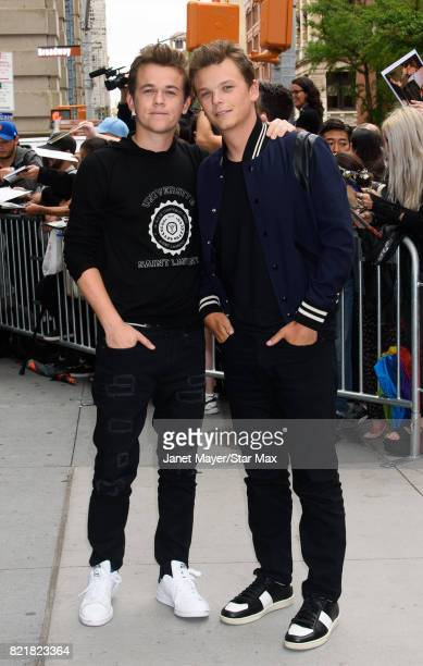 Matthew Edward Lowe and John Owen Lowe are seen on July 24 2017 in New York City