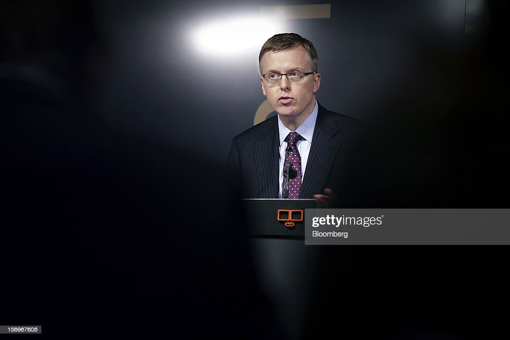 Matthew Elderfield, head of financial regulation at Ireland's central bank, speaks at an event in London, U.K., on Monday, Nov. 26, 2012. European leaders must put the funds and tools in place to rescue ailing lenders before they transfer oversight to the region's central bank or they risk worsening the sovereign-debt crisis, Elderfield said. Photographer: Jason Alden/Bloomberg via Getty Images
