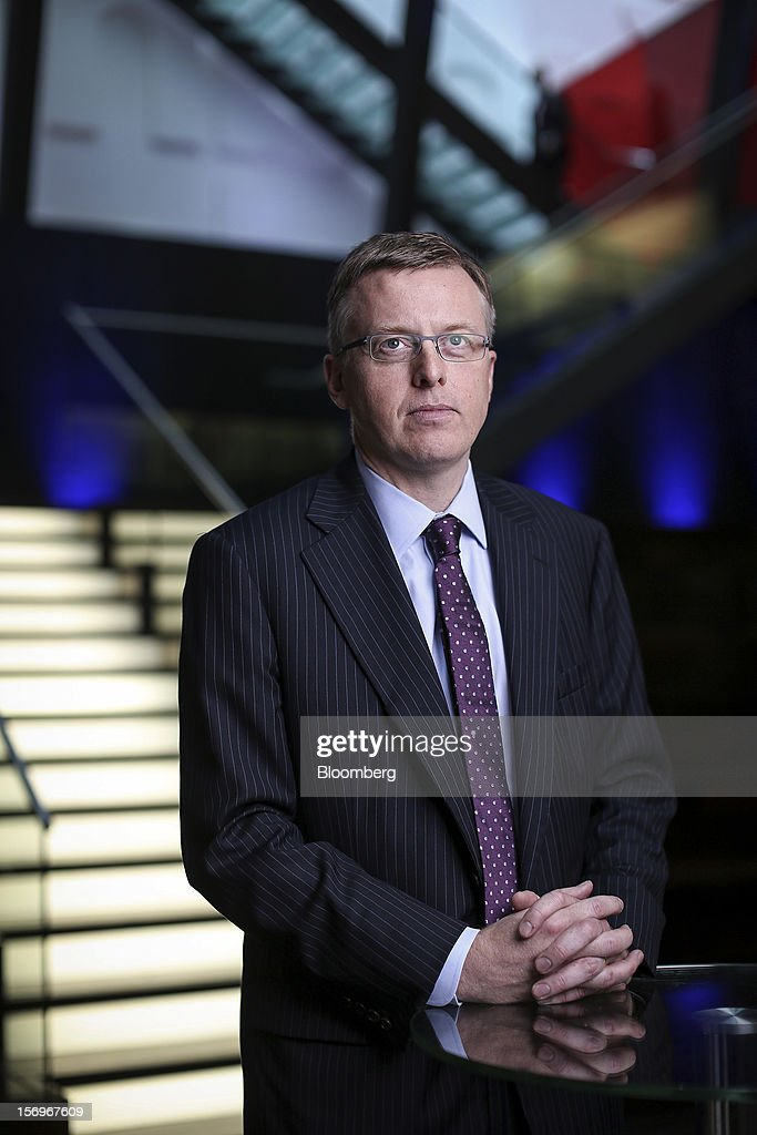 Matthew Elderfield, head of financial regulation at Ireland's central bank, poses for a photograph in London, U.K., on Monday, Nov. 26, 2012. European leaders must put the funds and tools in place to rescue ailing lenders before they transfer oversight to the region's central bank or they risk worsening the sovereign-debt crisis, Elderfield said. Photographer: Jason Alden/Bloomberg via Getty Images