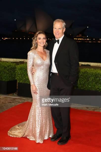 Matthew Elliott and partner arrive at the 2018 Dally M Awards at Overseas Passenger Terminal on September 26 2018 in Sydney Australia