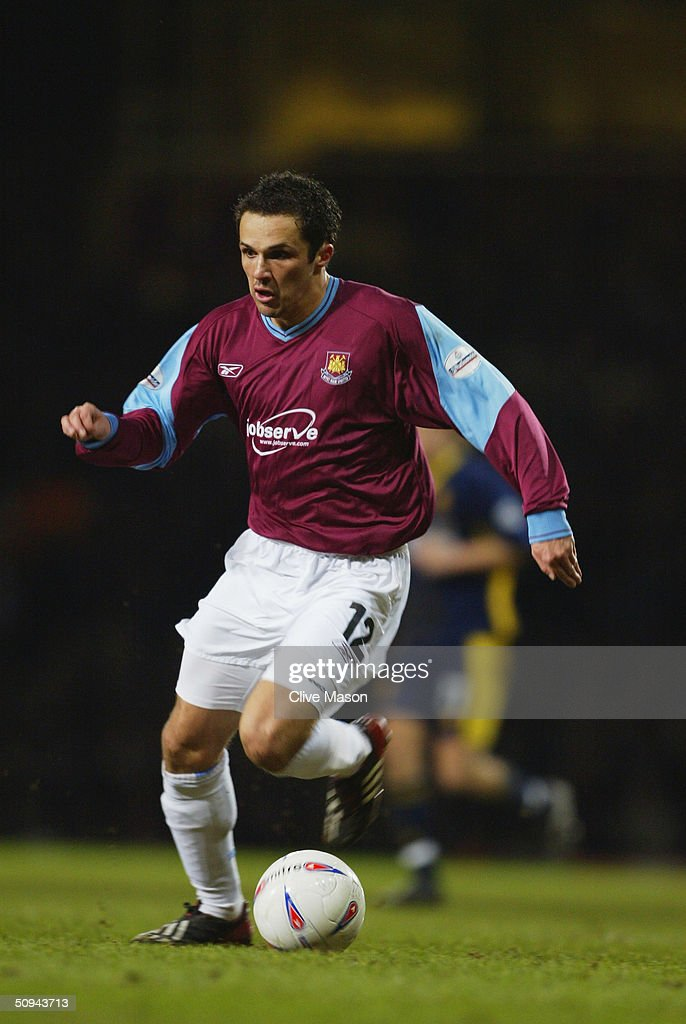 Matthew Etherington of West Ham United during the Nationwide Division One match between West Ham United and Wimbledon at Upton Park on March 9, 2004 in London.