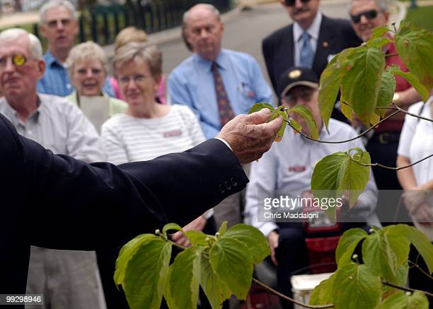 Matthew Evans Landscape Architect of the Capitol formally accepts the dedication a Flowering Dogwood on the south corner of the West Front lawn from...