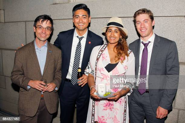 Matthew Farwell Aftab Pureval Anisha Rao and Jens Sutmoller attend the Washington DC Screening of 'War Machine' at Landmark E Street Cinema on May 17...