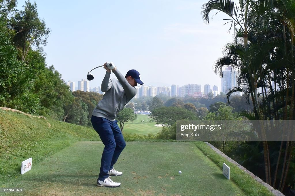 Matthew Fitzpatrick of England pictured during round one of the UBS Hong Kong Open at The Hong Kong Golf Club on November 23, 2017 in Hong Kong, Hong Kong.