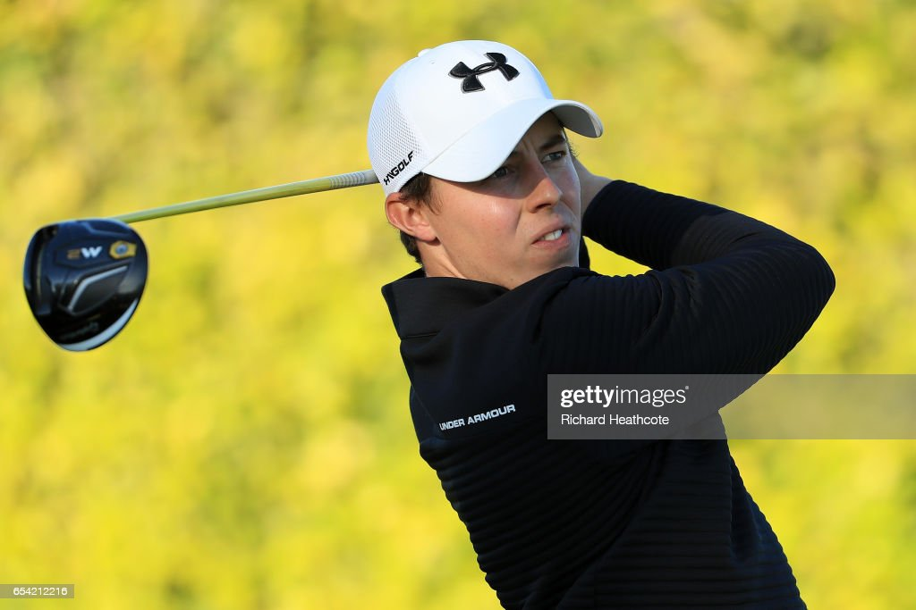 Matthew Fitzpatrick of England plays his shot from the ninth tee during the first round of the Arnold Palmer Invitational Presented By MasterCard on March 16, 2017 in Orlando, Florida.