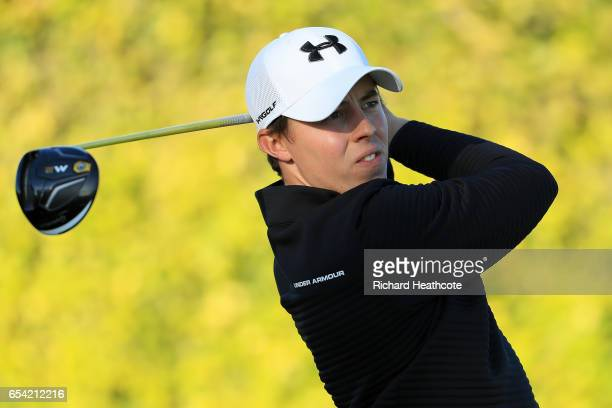 Matthew Fitzpatrick of England plays his shot from the ninth tee during the first round of the Arnold Palmer Invitational Presented By MasterCard on...