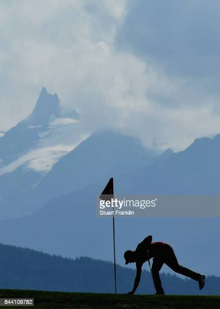Matthew Fitzpatrick on the 7th during Day Two of the 2017 Omega European Masters at CranssurSierre Golf Club on September 8 2017 in CransMontana...
