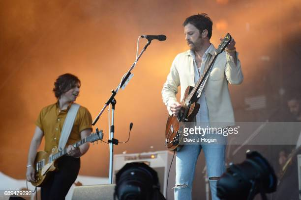 Matthew Followill and Caleb Followill of the band Kings of Leon attend Day 2 of BBC Radio 1's Big Weekend 2017 at Burton Constable Hall on May 28...