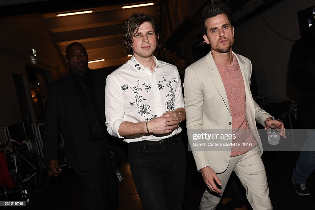 Matthew Followill and Jared Followill of Kings of Leon backstage during the MTV Europe Music Awards 2016 on November 6, 2016 in Rotterdam, Netherlands.