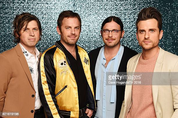 Matthew Followill Caleb Followill Nathan Followill and Jared Followill of Kings of Leon attend the MTV Europe Music Awards 2016 on November 6 2016 in...