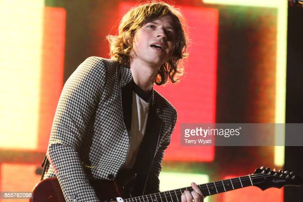 Matthew Followill of 'Kings Of Leon' performs at First Tennessee Park on September 29 2017 in Nashville Tennessee