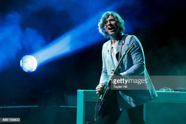 Matthew Followill of Kings of Leon performs at PNC Bank Arts Center on May 20 2017 in Holmdel New Jersey