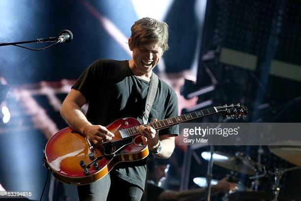 Matthew Followill of Kings of Leon performs in concert during day two of the Austin City Limits Music Festival at Zilker Park on October 5, 2013 in...