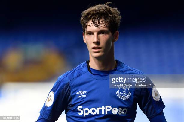 Matthew Foulds of Everton during the Premier League 2 match between Everton U23 and Tottenham Hotspur U23 at Goodison Park on September 10 2017 in...