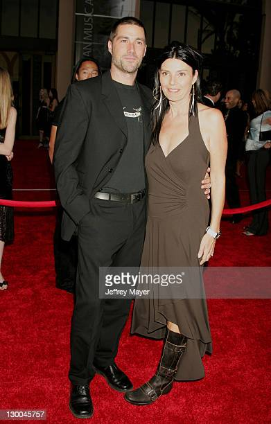 Matthew Fox and wife Margherita during 32nd Annual American Music Awards Arrivals at Shrine Auditorium in Los Angeles California United States