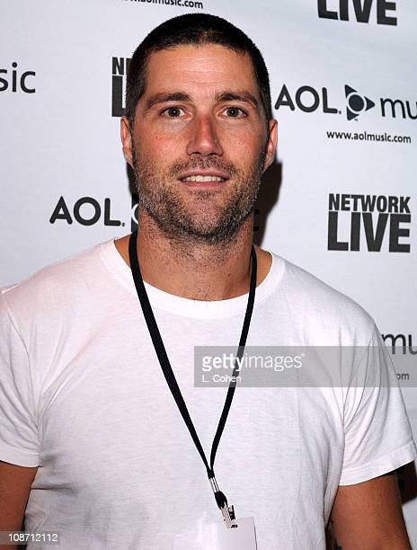 Matthew Fox during AOL Hosts Green Day Network LIVE on AOLmusiccom October 11 2005 at Wltern Theater in Los Angeles California United States