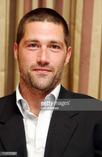 Matthew Fox during 'Lost' Press Conference with Dominic Monaghan and Matthew Fox at Regent Beverly Wilshire Hotel in Beverly Hills California United...