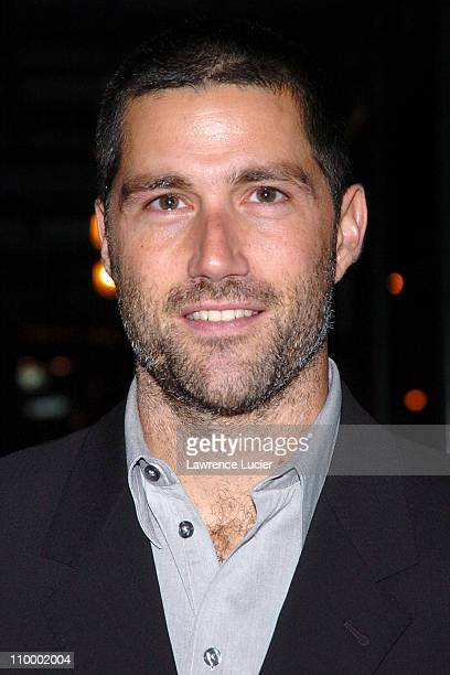 Matthew Fox during Matthew Fox Outside The Late Show with David Letterman January 31 2005 at Ed Sullivan Theater in New York City New York United...