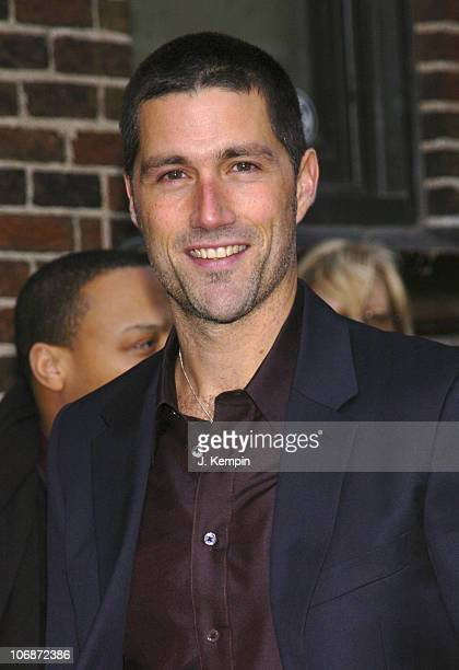 Matthew Fox during Matthew Fox Visits 'The Late Show With David Letterman' February 21 2006 at Ed Sullivan Theater in New York City New York United...