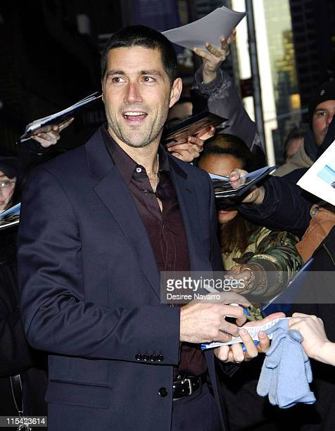 """Matthew Fox during Matthew Fox Visits """"The Late Show With David Letterman"""" - February 21, 2006 at Ed Sullivan Theater in New York City, New York,..."""