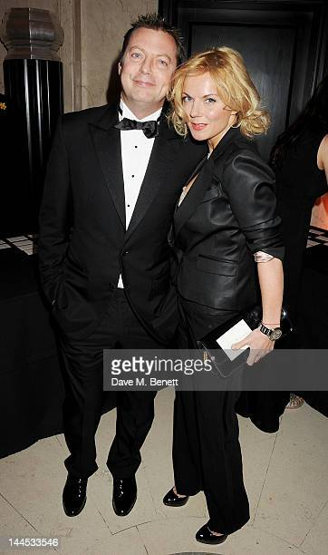 Matthew Freud and Geri Halliwell attend the Marie Curie Cancer Fundraiser hosted by Heather Kerzner at Claridge's Hotel on May 15 2012 in London...
