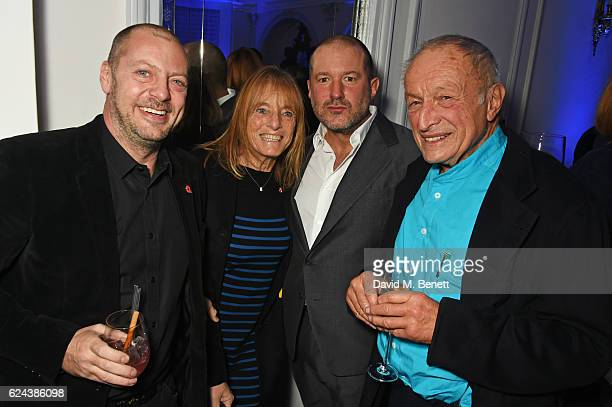 Matthew Freud Lady Ruth Rogers Sir Jony Ive and Lord Richard Rogers attend Claridge's Christmas Tree 2016 Party with tree designed by Sir Jony Ive...