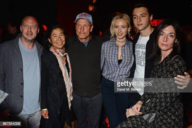 Matthew Freud Laura Louie Woody Harrelson Camilla alFayed Arthur Donald and Mary McCartney attend the Hoping For Palestine benefit concert for...