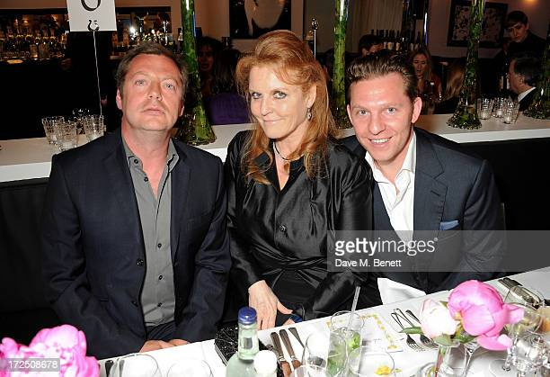 Matthew Freud Sarah Ferguson Duchess of York and Nick Candy attend The Masterpiece Midsummer Party in aid of Marie Curie Cancer Care hosted by...