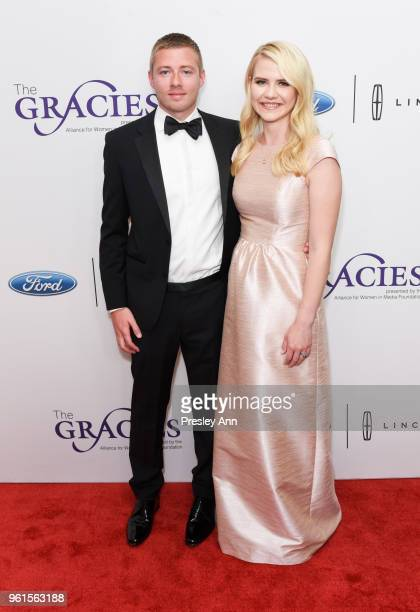 Matthew Gilmour and Elizabeth Smart arrive at the 43rd Annual Gracie Awards at the Beverly Wilshire Four SeasonsHotel on May 22 2018 in Beverly Hills...