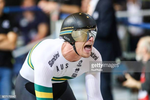 Matthew Glaetzer Men`s 1km time trial during UCI Track Cycling World Championships Apeldoorn 2018 in Apeldoorn Netherlands on March 4 2018