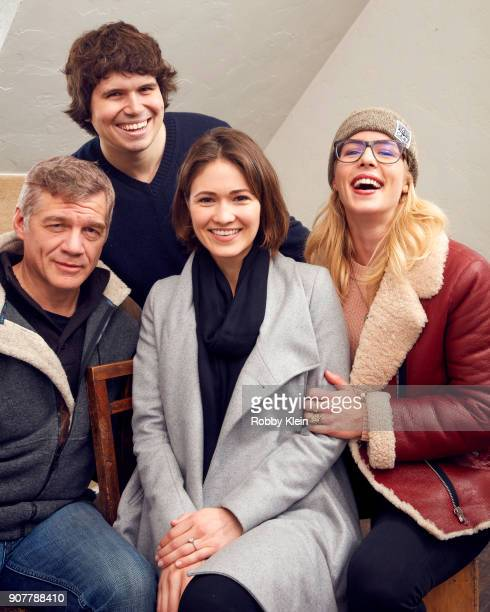Matthew Glave Michael Gallagher Jana Winternitz and Emily Bett Rickards from the film 'Funny Story' poses for a portrait in the YouTube x Getty...