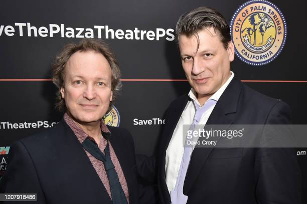 Matthew Gonder and Rodrigo Basilicati Cardin attend the House Of Cardin Special Screening At Palm Springs Modernism Week at The Plaza Theater on...