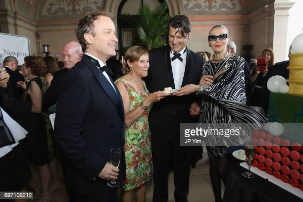 Matthew Gonder Trudy Coxe Rodrigo Basilicata and Maryse Gaspard attend Pierre Cardin's 95th Birthday Celebration during the Pierre Cardin 70 Years of...